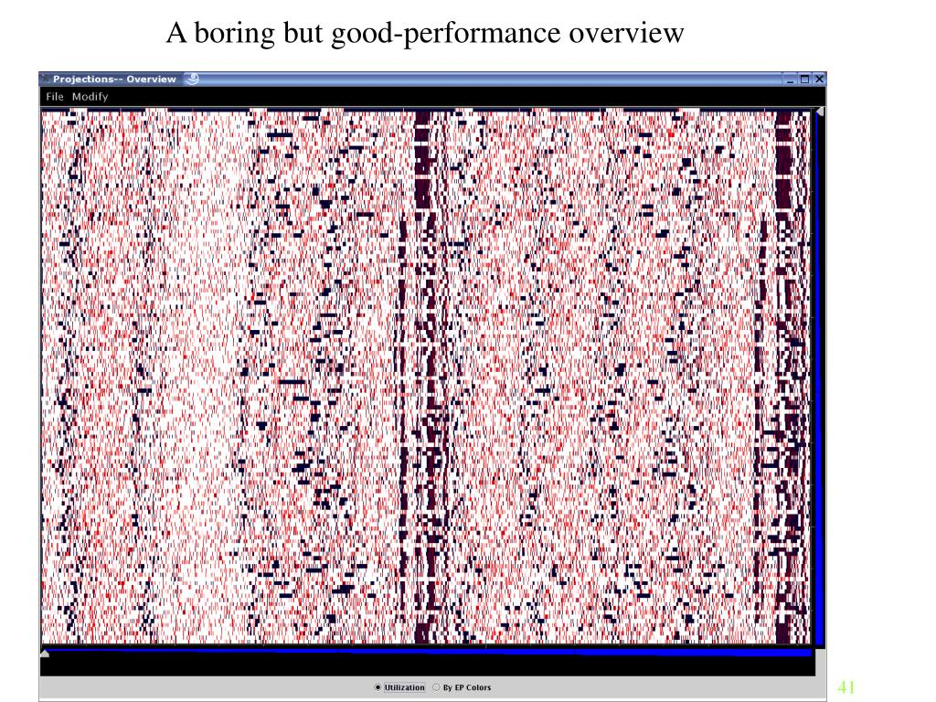 A boring but good-performance overview