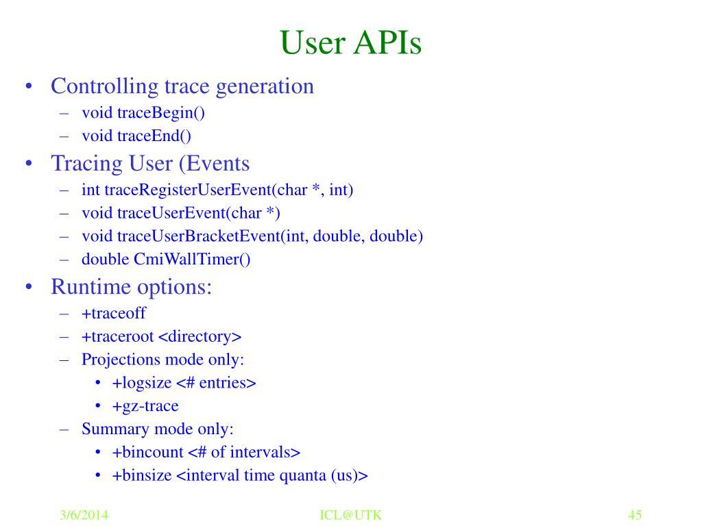 User APIs