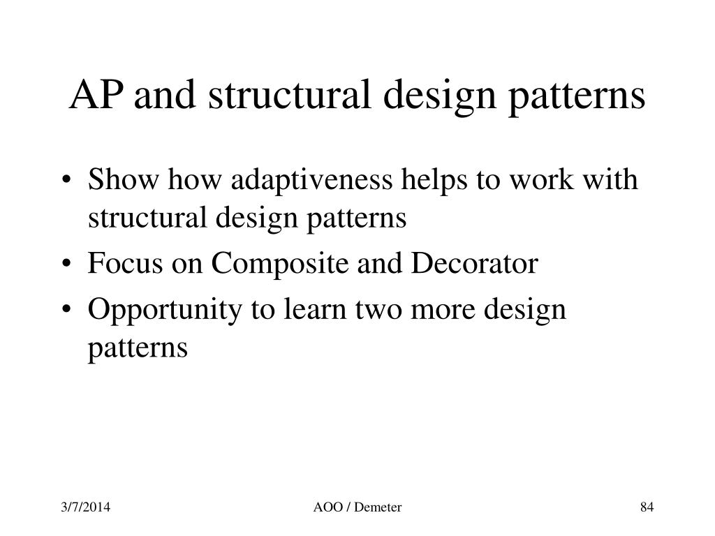 AP and structural design patterns