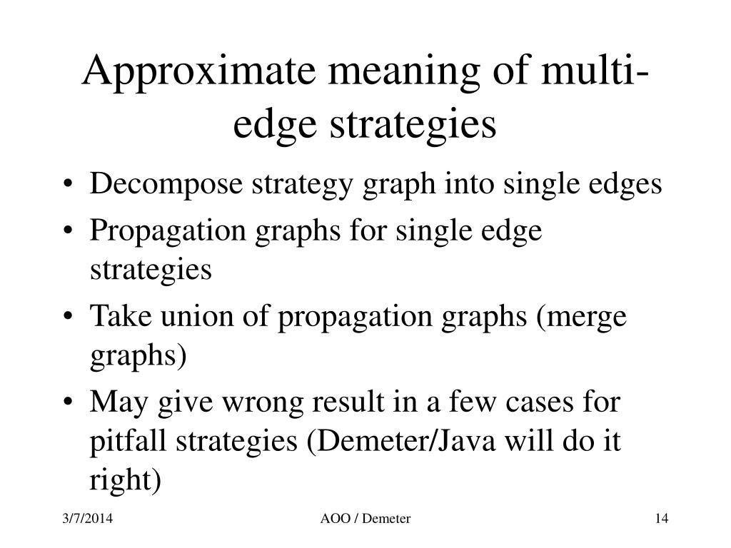 Approximate meaning of multi-edge strategies