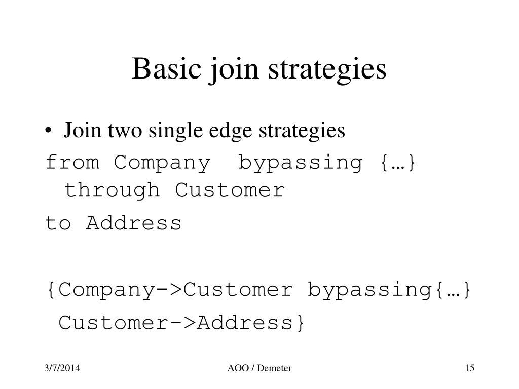 Basic join strategies