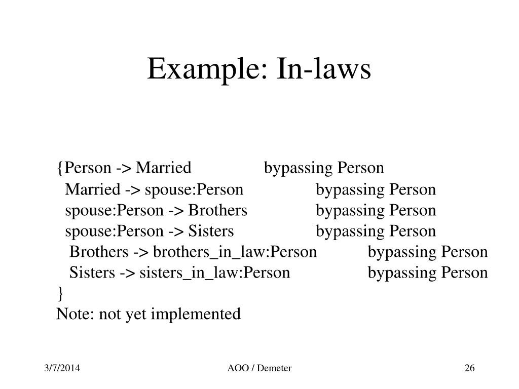 Example: In-laws