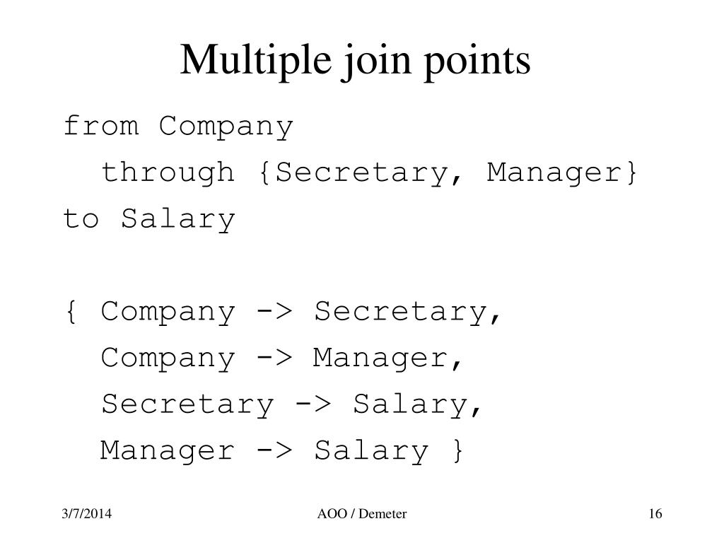 Multiple join points