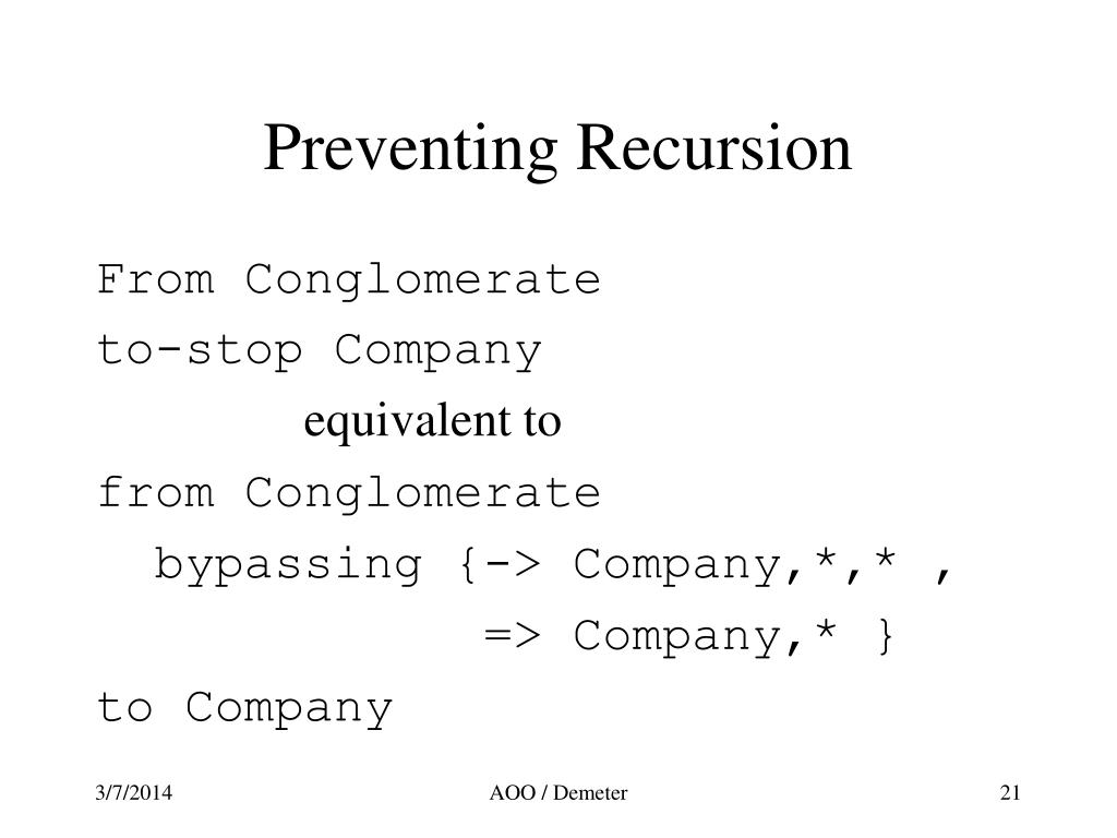 Preventing Recursion