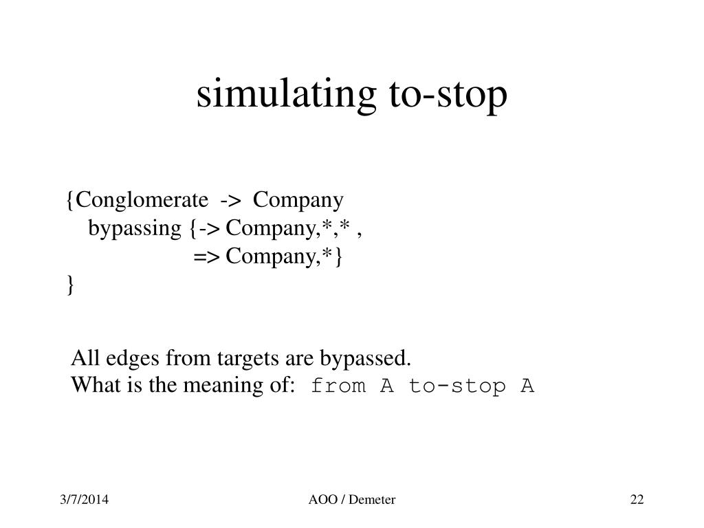 simulating to-stop