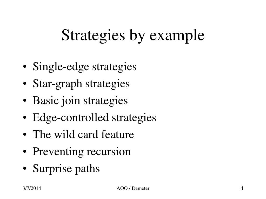 Strategies by example
