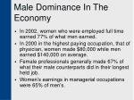 male dominance in the economy