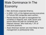 male dominance in the economy13
