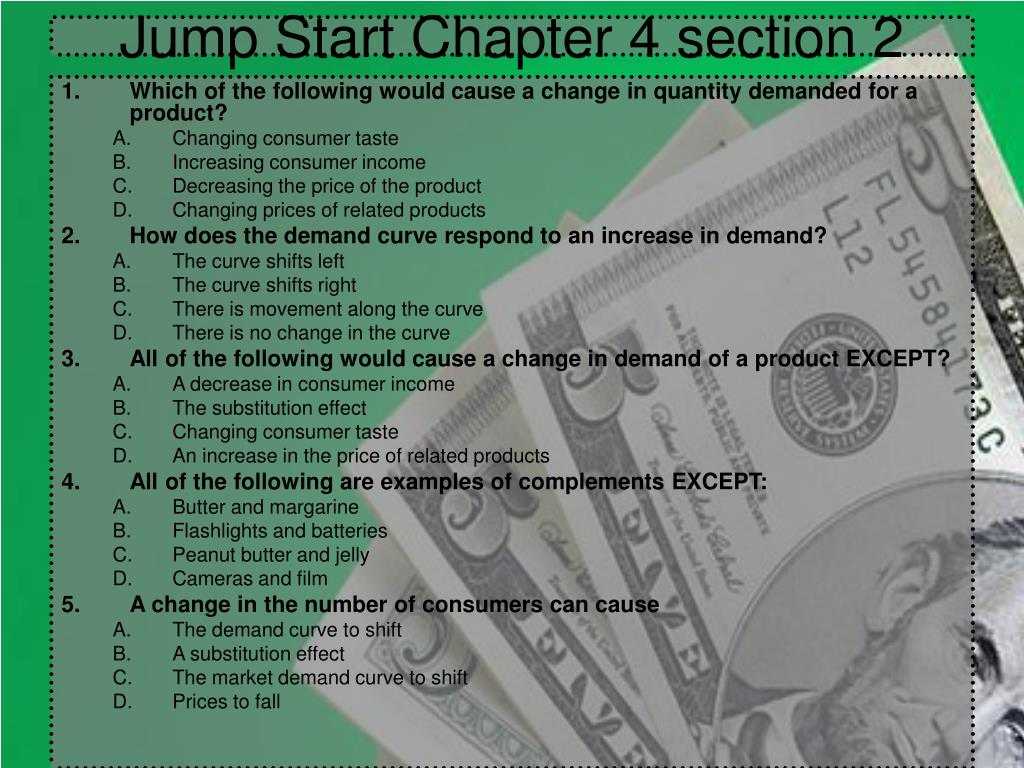 Jump Start Chapter 4 section 2