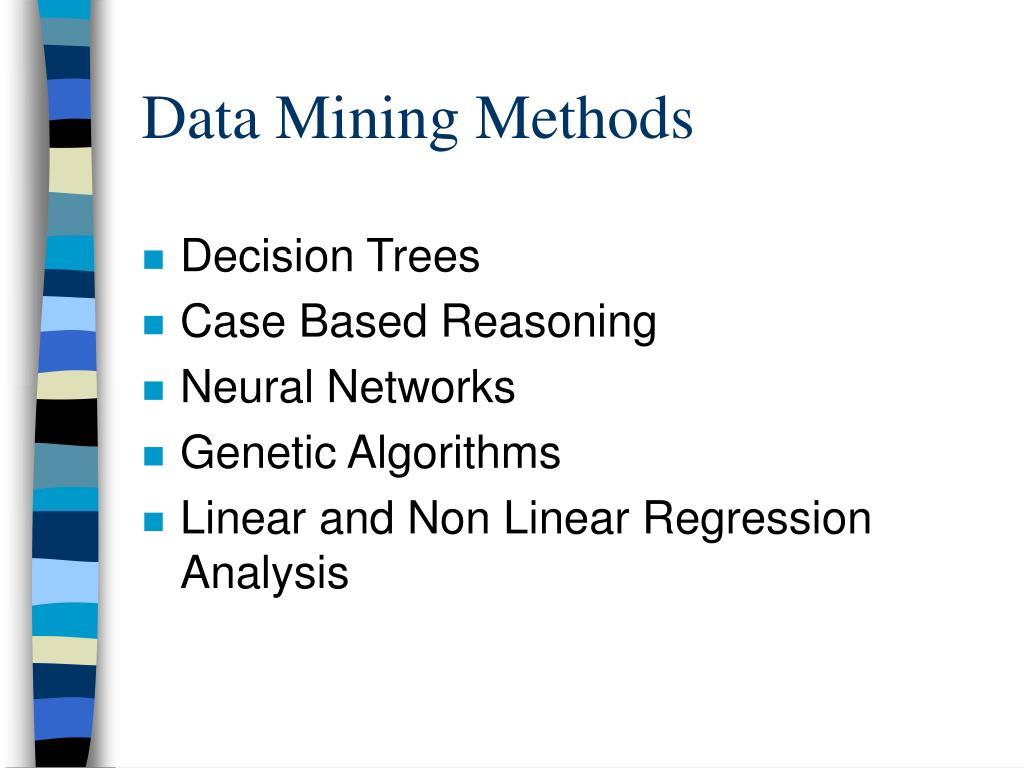 Data Mining Methods