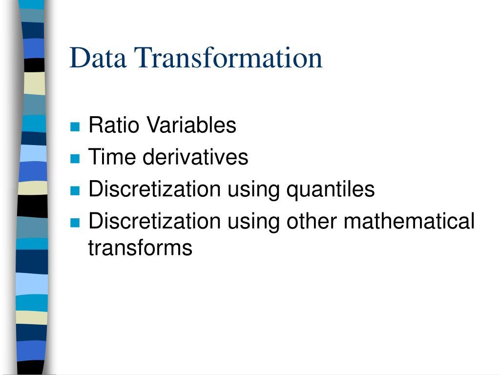 Data Transformation