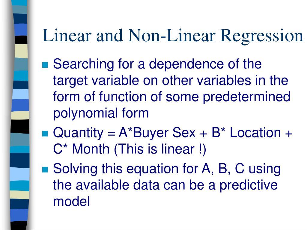 Linear and Non-Linear Regression