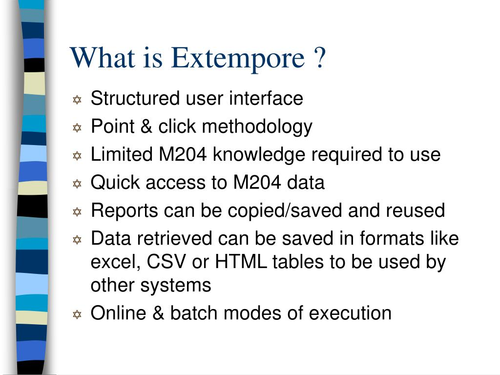 What is Extempore ?