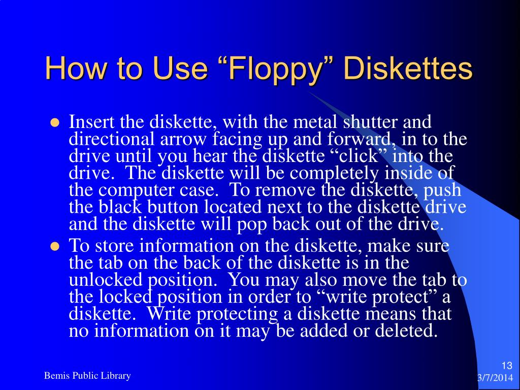 "How to Use ""Floppy"" Diskettes"