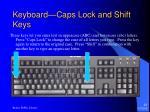 keyboard caps lock and shift keys