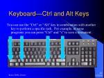 keyboard ctrl and alt keys