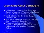 learn more about computers