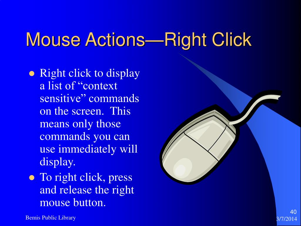 Mouse Actions—Right Click