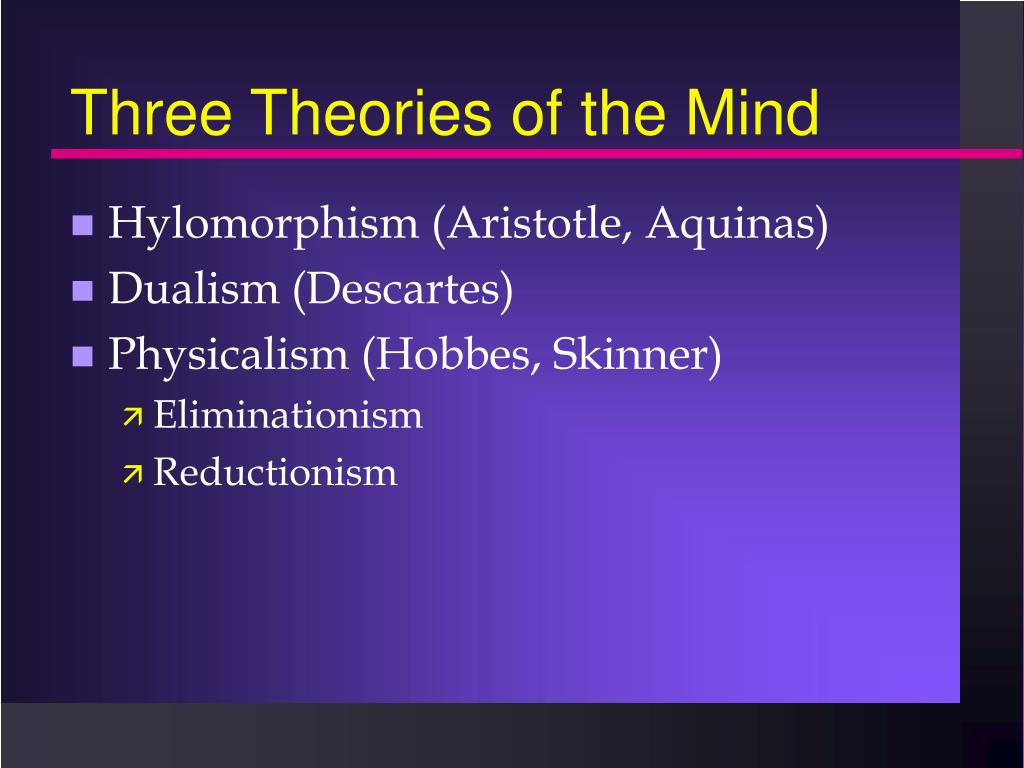 Three Theories of the Mind