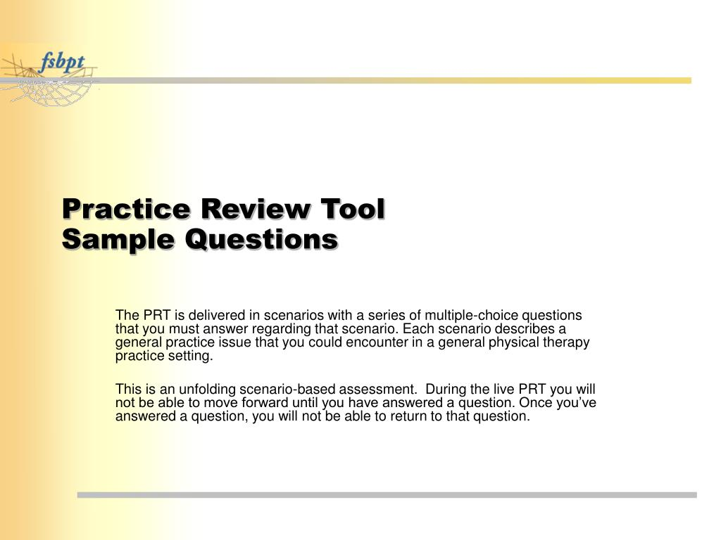 Practice Review Tool
