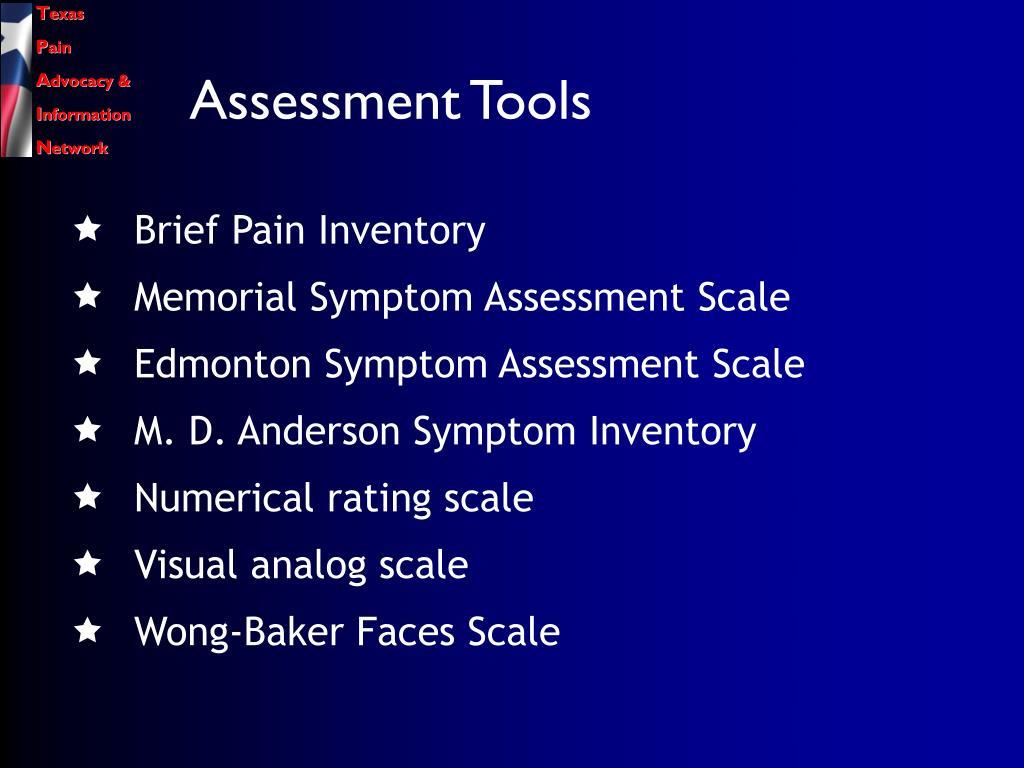 Assessment Tools