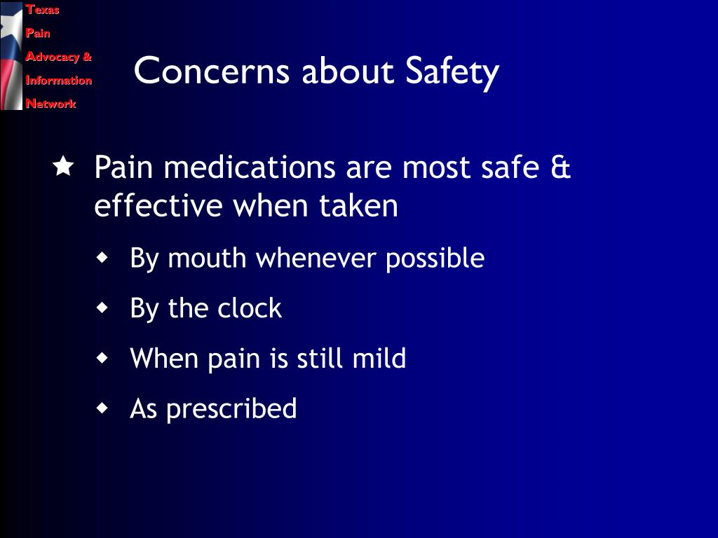 Concerns about Safety