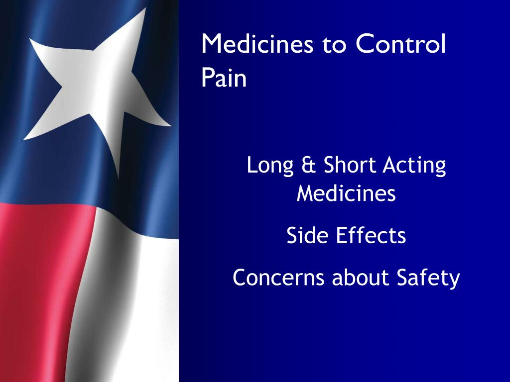 Medicines to Control Pain
