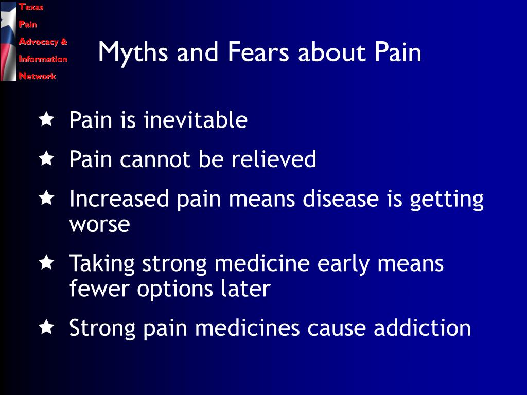 Myths and Fears about Pain