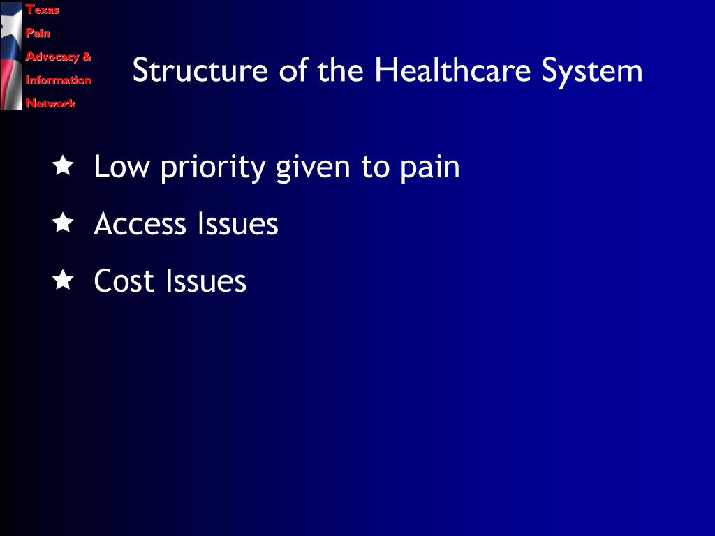 Structure of the Healthcare System