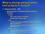 what is driving national smart card projects in europe