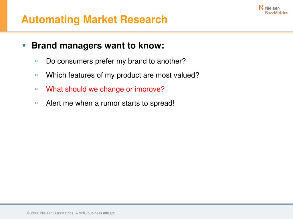 Automating Market Research