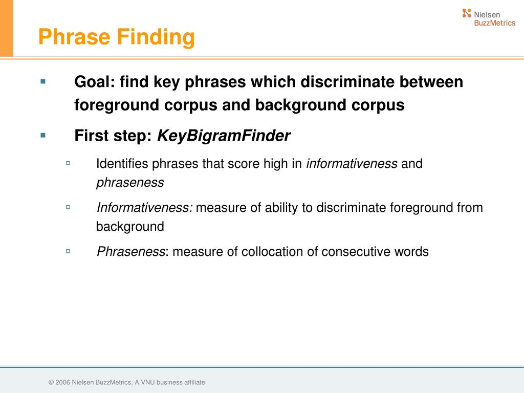 Phrase Finding