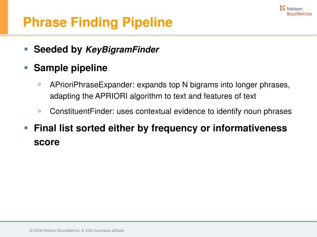 Phrase Finding Pipeline