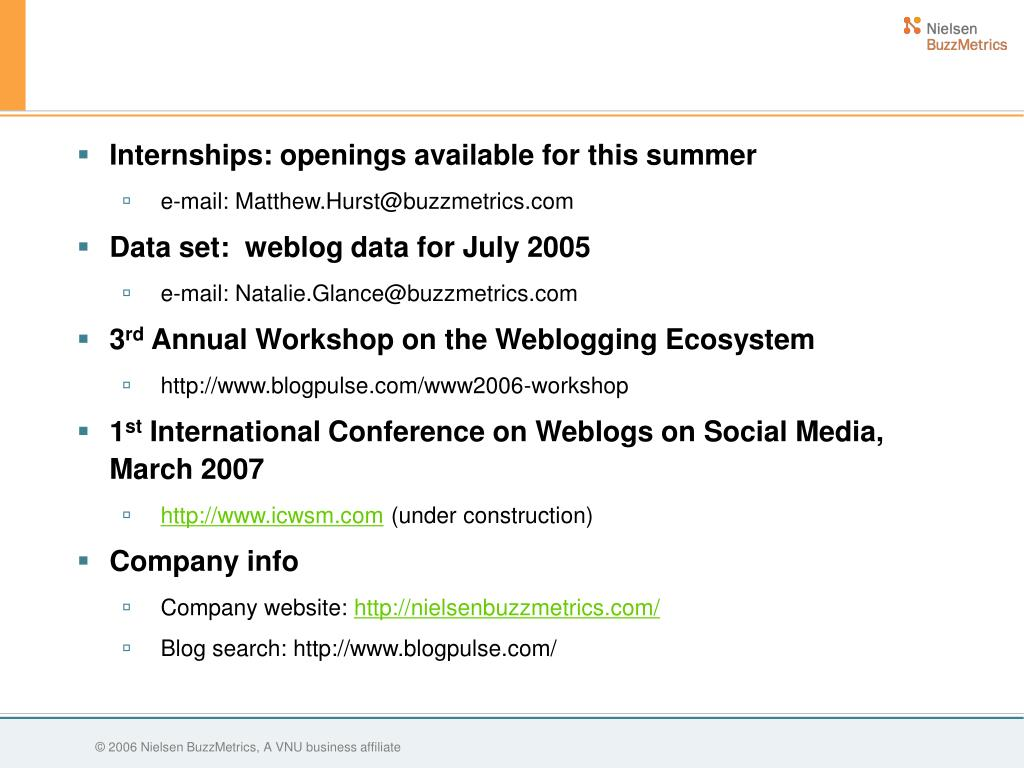 Internships: openings available for this summer