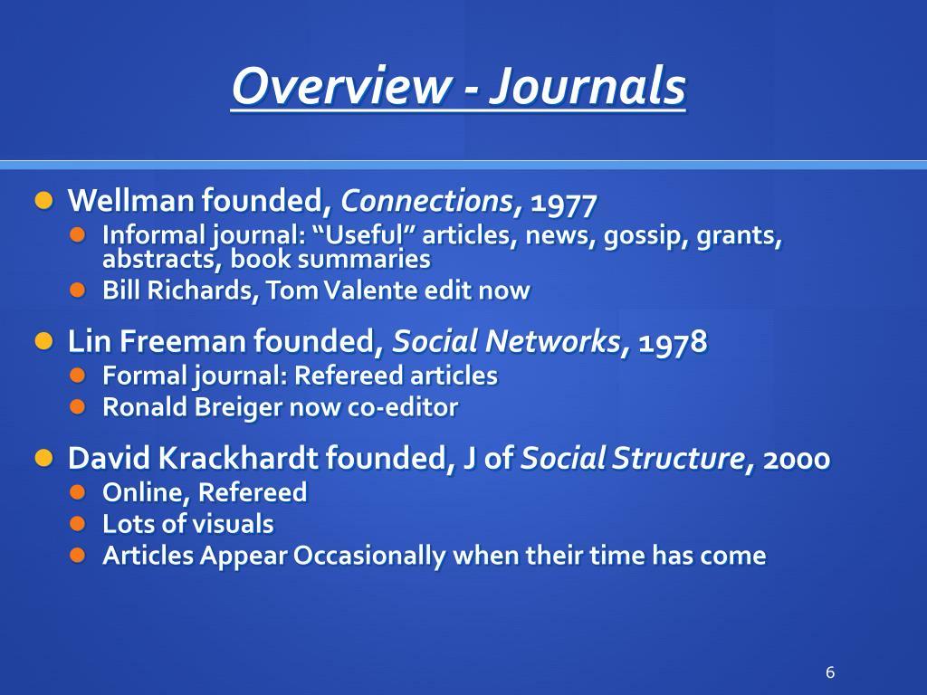 Overview - Journals