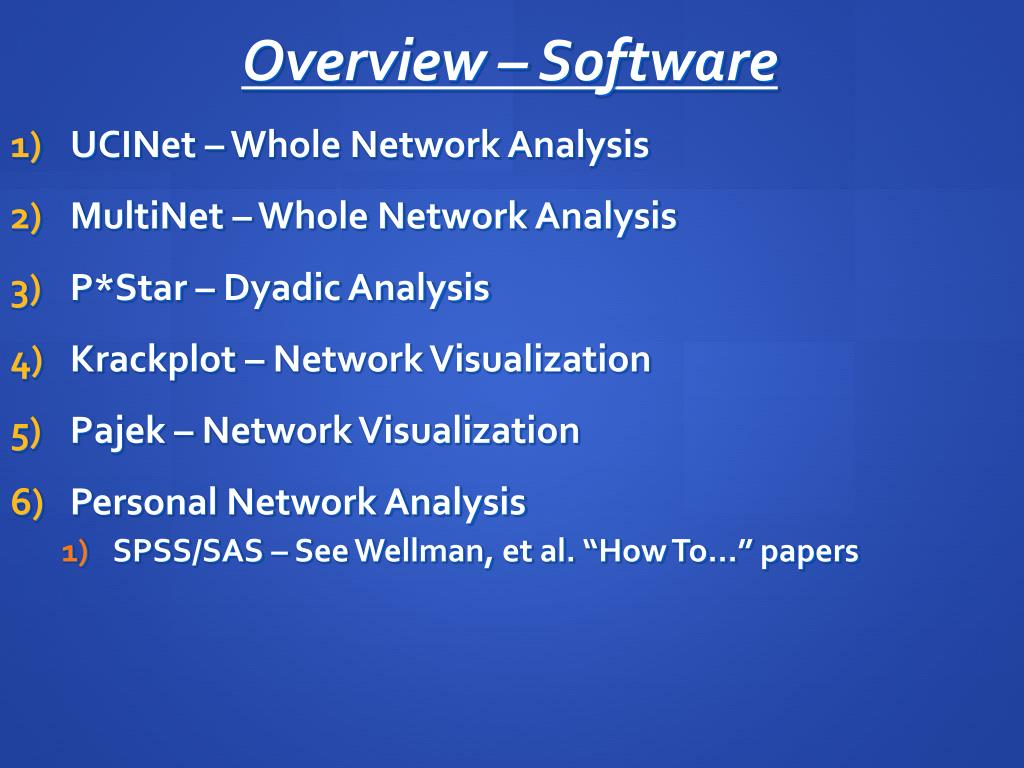 Overview – Software