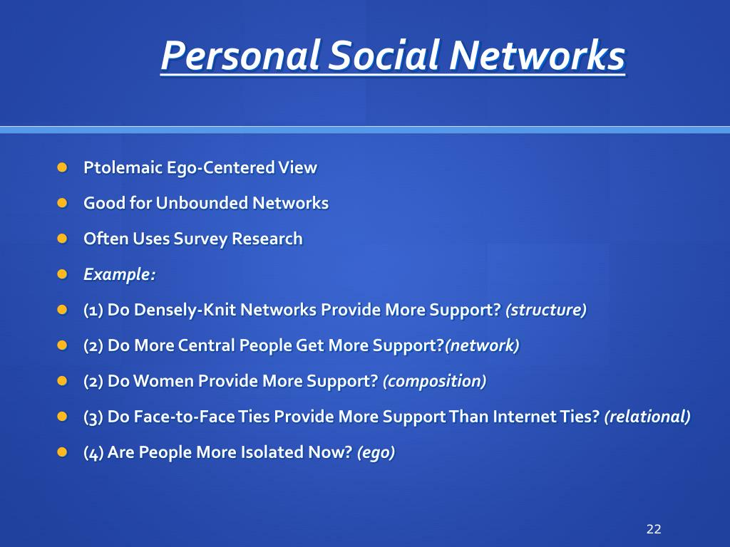 Personal Social Networks