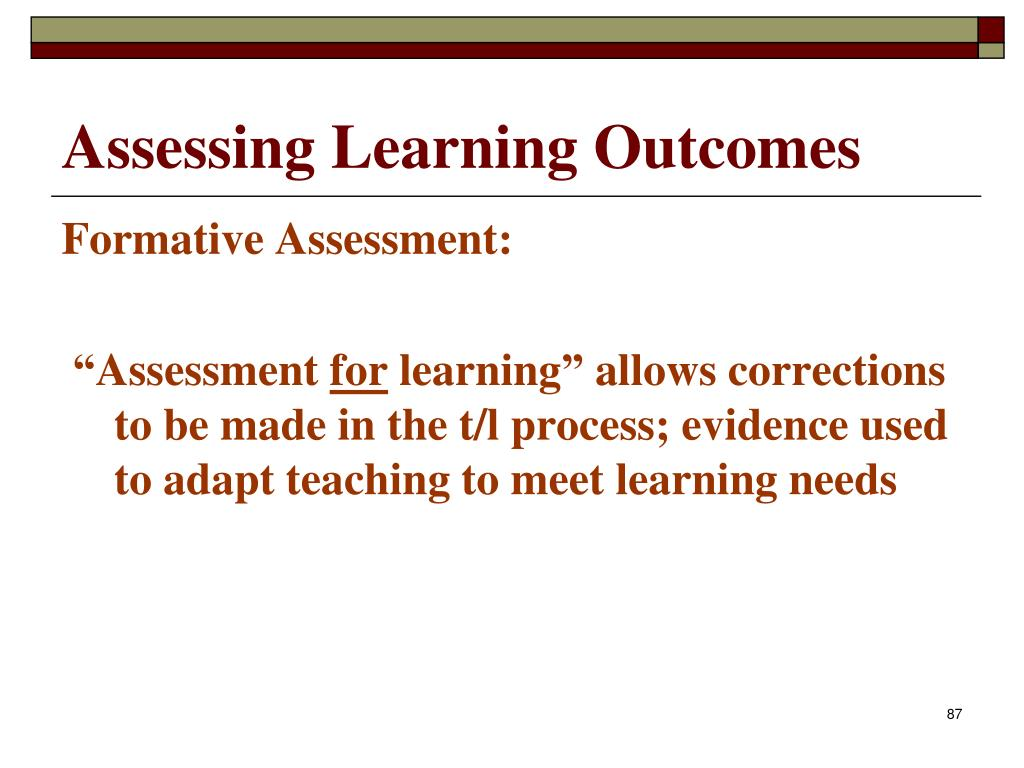 Assessing Learning Outcomes