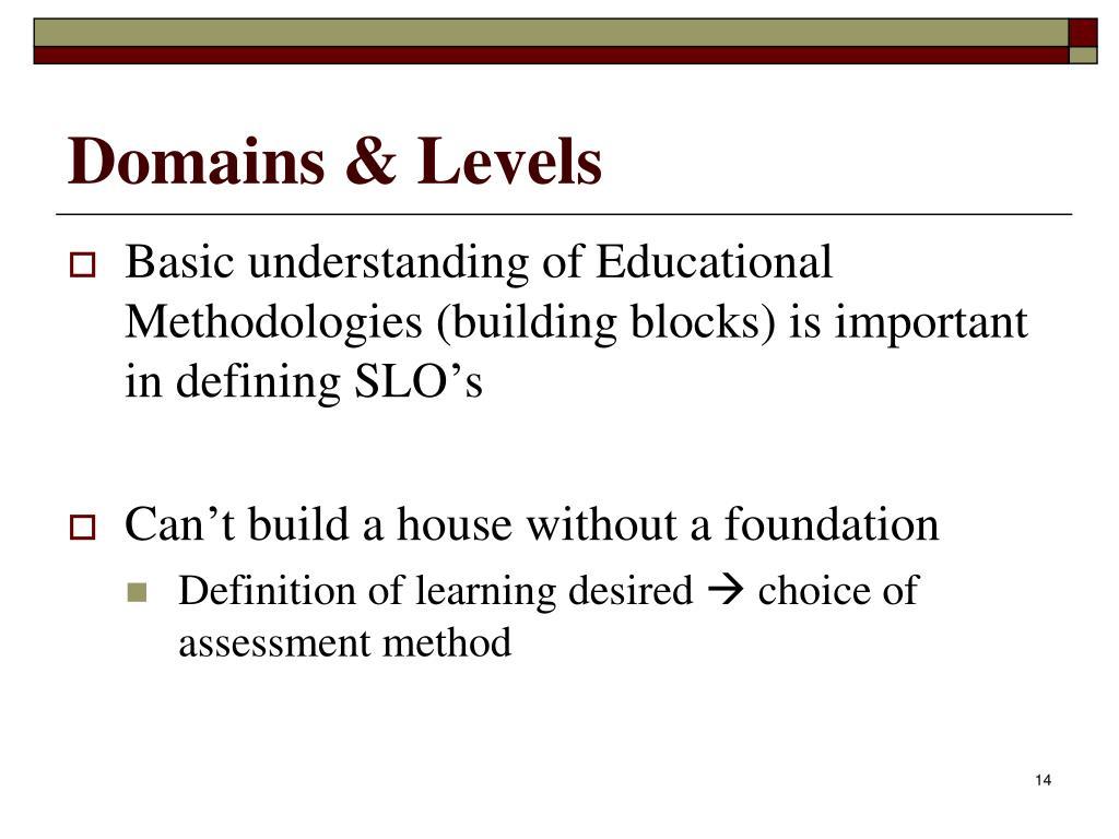 Domains & Levels