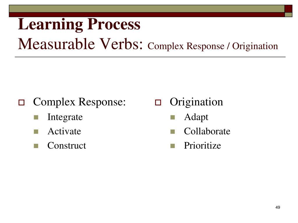 Complex Response: