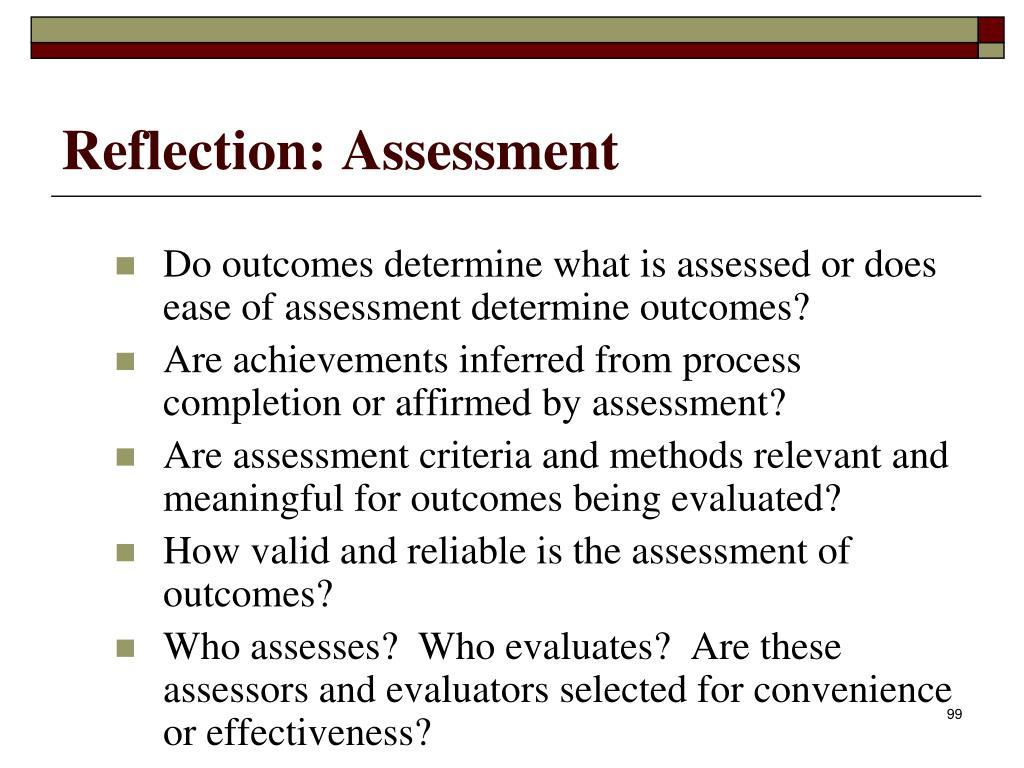 Reflection: Assessment