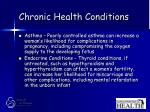 chronic health conditions41