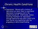 chronic health conditions42