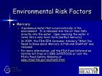 environmental risk factors57