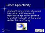 golden opportunity75