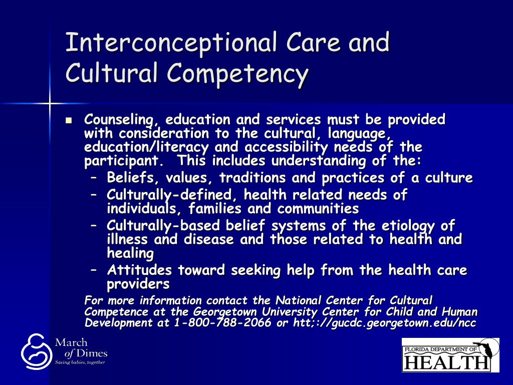 Interconceptional Care and Cultural Competency