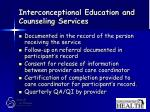 interconceptional education and counseling services68
