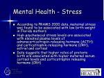 mental health stress52