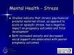mental health stress53