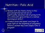 nutrition folic acid